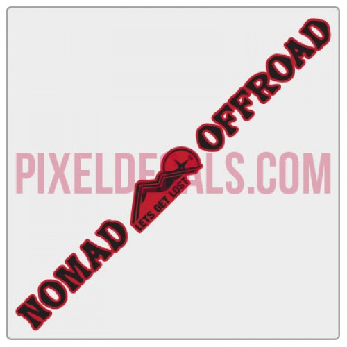 Nomad Offroad Windshield Banner Decal - 2 Color