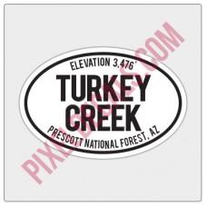 Trail Oval Decal - AZ - Turkey Creek