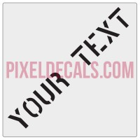"Customizable ""Phantom Stencil"" Hood Lettering Decals (Pair)"