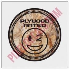 Plywood Rated Decal