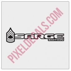 "Sarge Edition ""Rank Insignia"" Decal (Pair)"