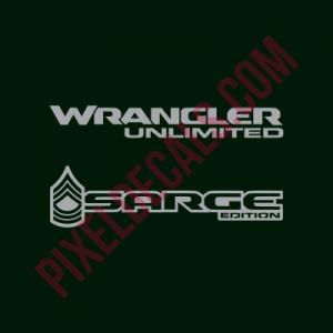 "JL Sarge Edition ""Rank Insignia"" Decal (Pair)"