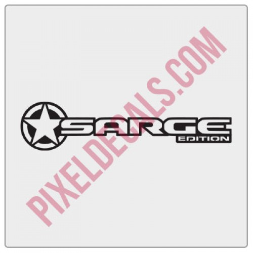 "JL Sarge Edition ""Invasion Star"" Decal (Pair)"