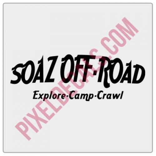 SOAZ Off Road Decal