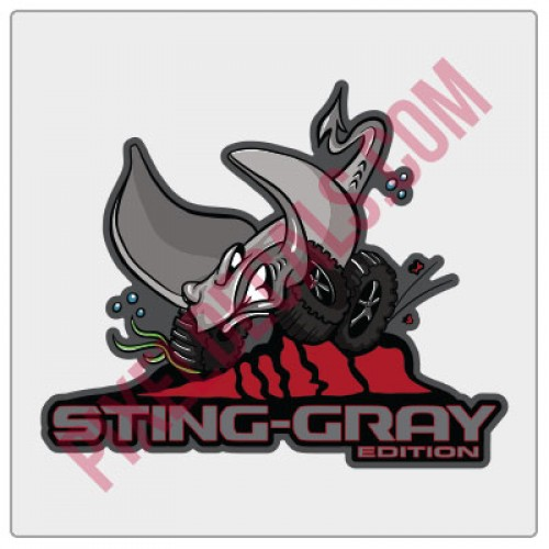 JL Sting-Gray Edition Cartoon Decal Full Color