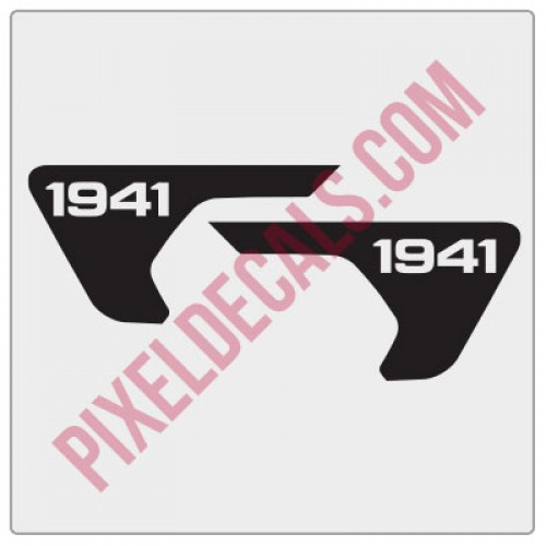 2018+ JL/JT Fender Vent 1941 Blackout Decal Pair