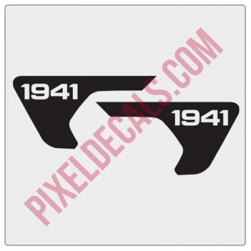2018+ Fender Vent 1941 Blackout Decal Pair