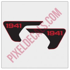 2018+ JL/JT Fender Vent 1941 Blackout Decal Pair - 2 Color