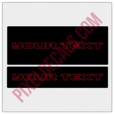 "Customizable ""JK Hard Rock"" Text Visor Cover Up Decals"