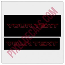 "Customizable ""JL Rubi"" Text Visor Cover Up Decals"