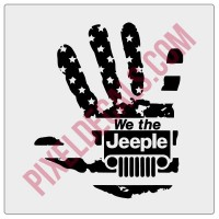 We the Jeeple Wave Decal