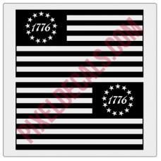 1776 Flag Decals