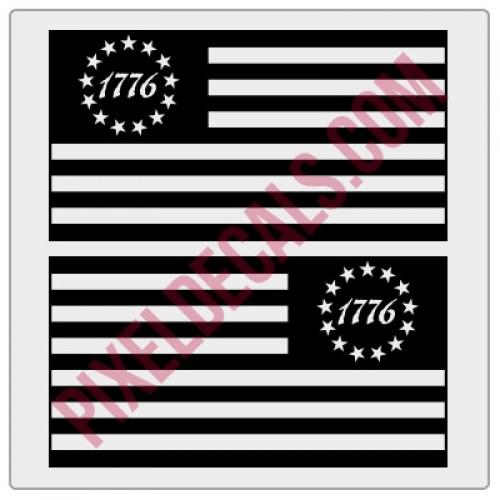 1776 Flag Decals