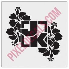 Square Logo - JK - Hibiscus