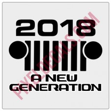 2018 - A New Generation Decal