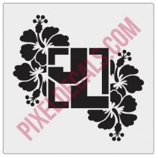 Square Logo - JL - Hibiscus