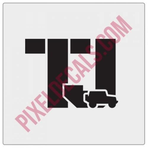 TJ Stencil w/ icon
