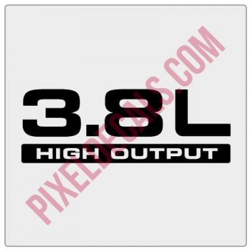 3.8L High Output Decal