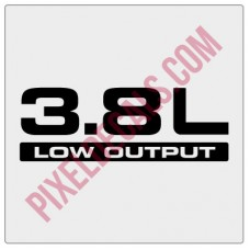 3.8L Low Output Decal