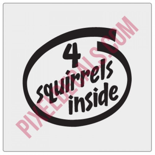 4 Squirrels Inside Decal