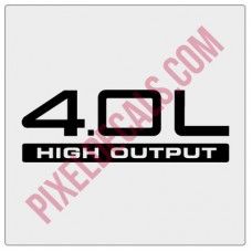 4.0L High Output Decal