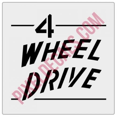 4 Wheel Drive Tailgate Decal