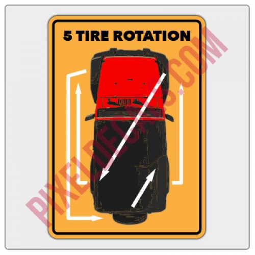 5 Tire Rotation Decal