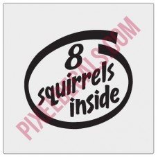 8 Squirrels Inside Decal