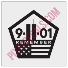 9-11-01 Remember Decal