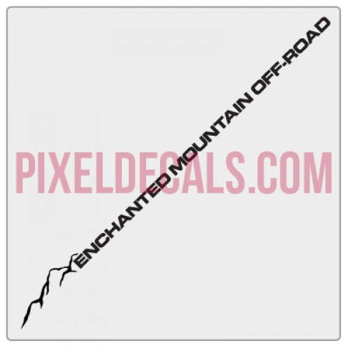 Enchanted Mountain Offroad Windshield Decal