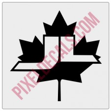 JL Canada Maple Leaf Decal