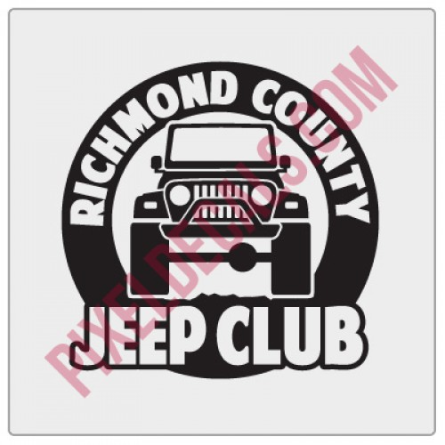 Richmond County Jp Club Round Decal