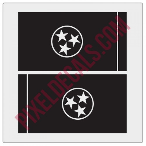 Tennessee Flag Decals - 1 Color