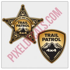 Trail Patrol Badge Stickers