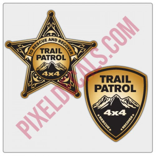 Trail Patrol Badge Stickers