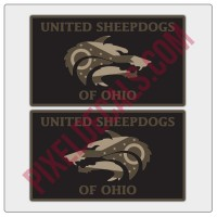 United Sheepdogs of Ohio Flag Style Decals