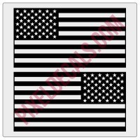 American Flag Decals - 1 Color (V1)