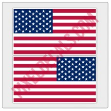 American Flag Decals - Color