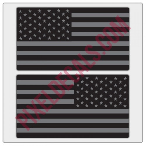 American Flag Decals - Black & Gray - Tactical
