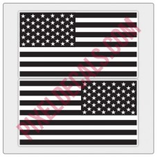 American Flag Decals - Black & White