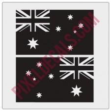 Australian Flag Decals - 1 Color