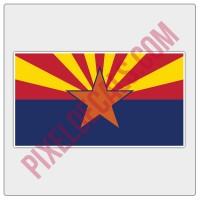 Arizona Flag Decal - Color