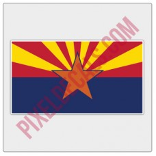 Arizona Flag Decal - Color