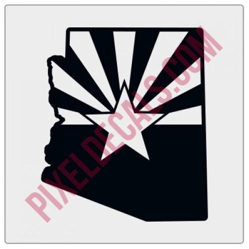 Arizona Flag State Shape Decal