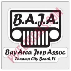 BAJA Black/White Logo Decal - Black