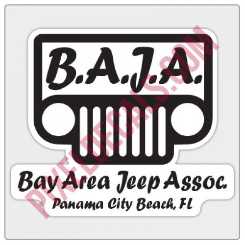 BAJA Black/White Logo Decal - Black
