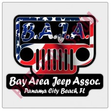 BAJA American Flag Logo Decal - Black