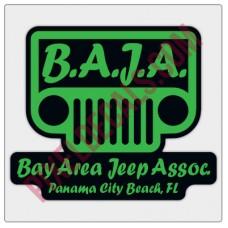 BAJA Green/Black Logo Decal