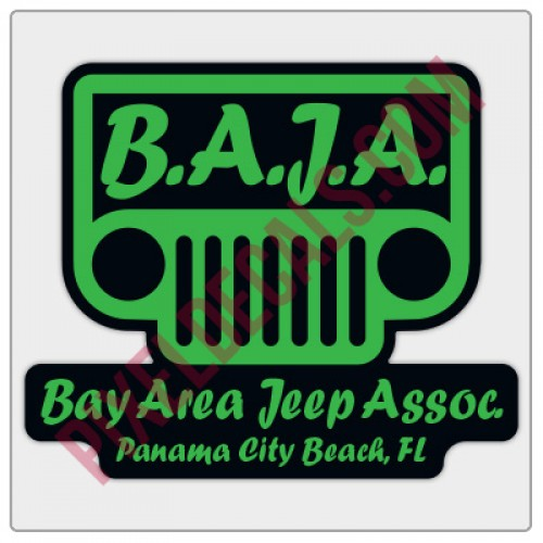 BAJA Green/Black Logo Decal