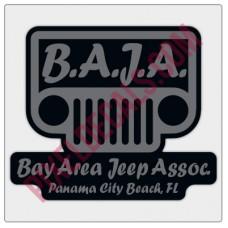 BAJA Grey/Black Logo Decal